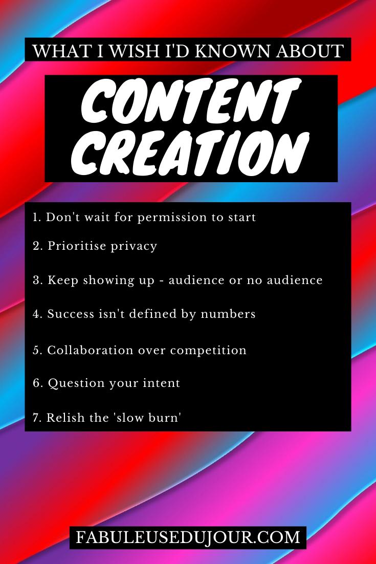 Tips for content creators